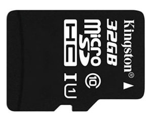 Kingston Class 10 32GB microSD card