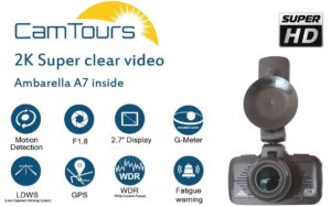 CamTours K4 Dashboard Camera