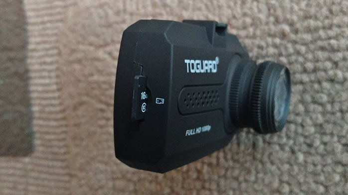 Toguard Mini Dash Cam Micro SD card